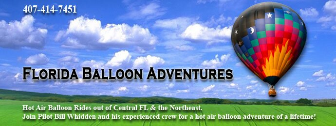 Florida Balloon Adventures - Bill Whidden, pilot - hot air balloon rides